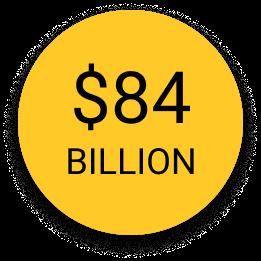 84 billion dollars icon