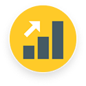 High growth rate icon