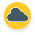 In the cloud icon