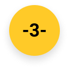 Number 3 ready for action icon