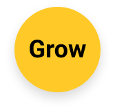 Yellow circle grow icon