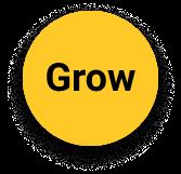 Yellow circle grow icon
